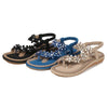 2020 summer new flower rhinestone large size women's sandals
