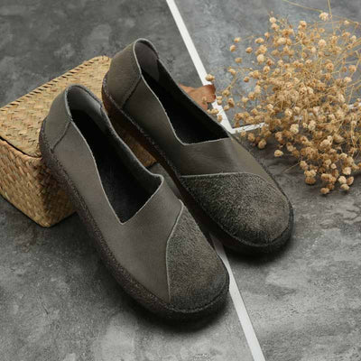 New thick-soled retro literary women's shoes