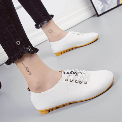 Fashion students wild tods white shoes