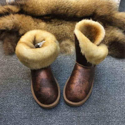 2019 winter new tube leather thickening snow boots-2