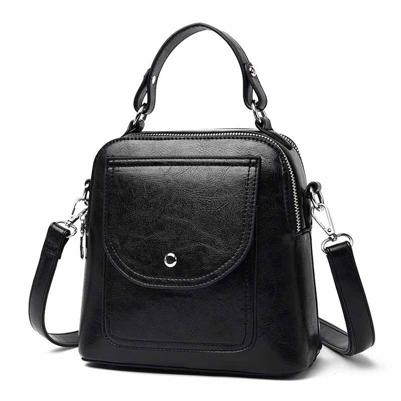 2020 new PU leather popular retro style women's shoulder bag