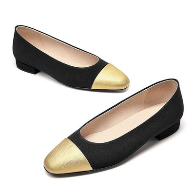 Spring new leather shallow flat shoes shoes women's thick with wild stitching women's shoes
