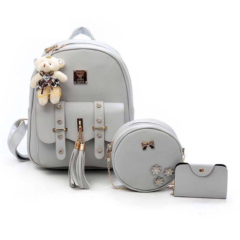 2020 new cartoon cute backpack women's popular soft face suit bag
