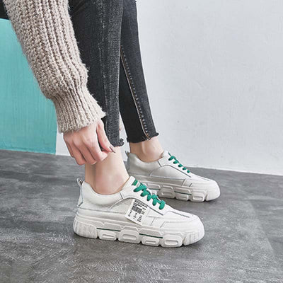 2020 spring new wild thick bottom mesh high-rise casual sneakers