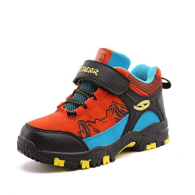 2019 winter new boy outdoor climbing non-slip waterproof warm cotton shoes