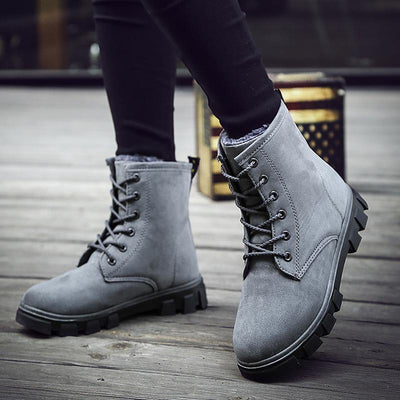 Winter fashion new plus velvet waterproof high to help warm snow boots