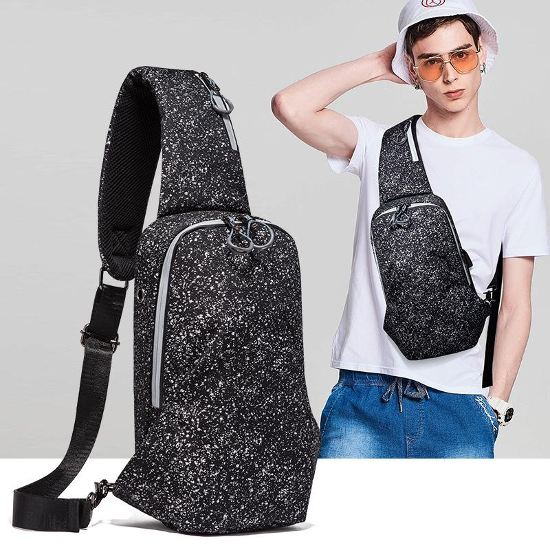New men's chest bag outdoor leisure travel multifunctional waist bag men's shoulder diagonal bag