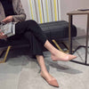 Frosted shallow mouth comfortable versatile flat shoes