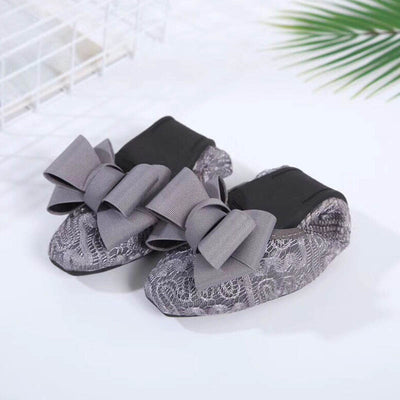 Lace openwork egg roll casual ballet shoes