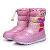 Winter waterproof children's snow boots boots thick baby cotton shoes