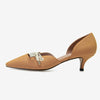 Bow tie design shallow mouth women's shoes