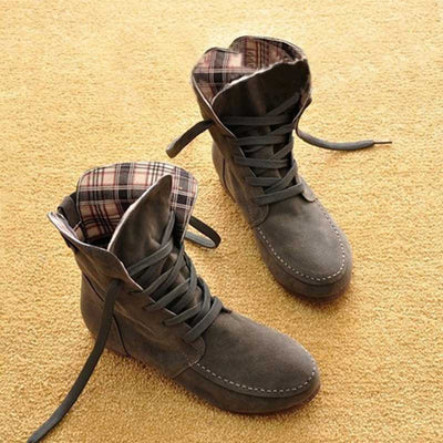 New spring and autumn women's boots flat boots women's lace fashion boots