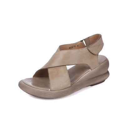 Wedge velcro sandals