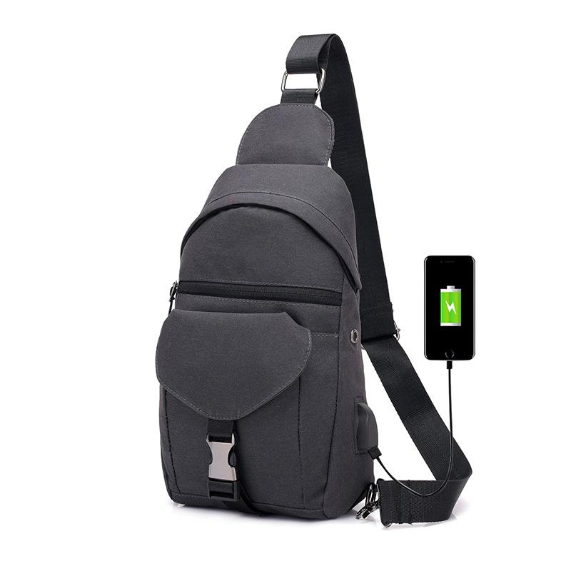 New men's chest bag shoulder bag men's outdoor sports messenger bag anti-theft shoulder bag