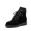 Autumn and winter British wind with round head personality fashion wild boots