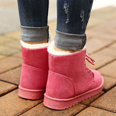 2019 winter new European and American large size warm cotton snow boots