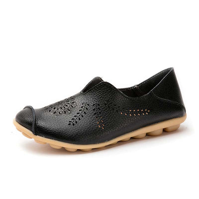 Hole flat peas shoes