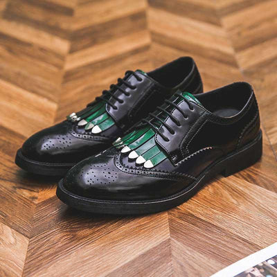 New Fashion Tassel Color matching Brock Shoes Men's Business Casual Dress Up Men's Shoes