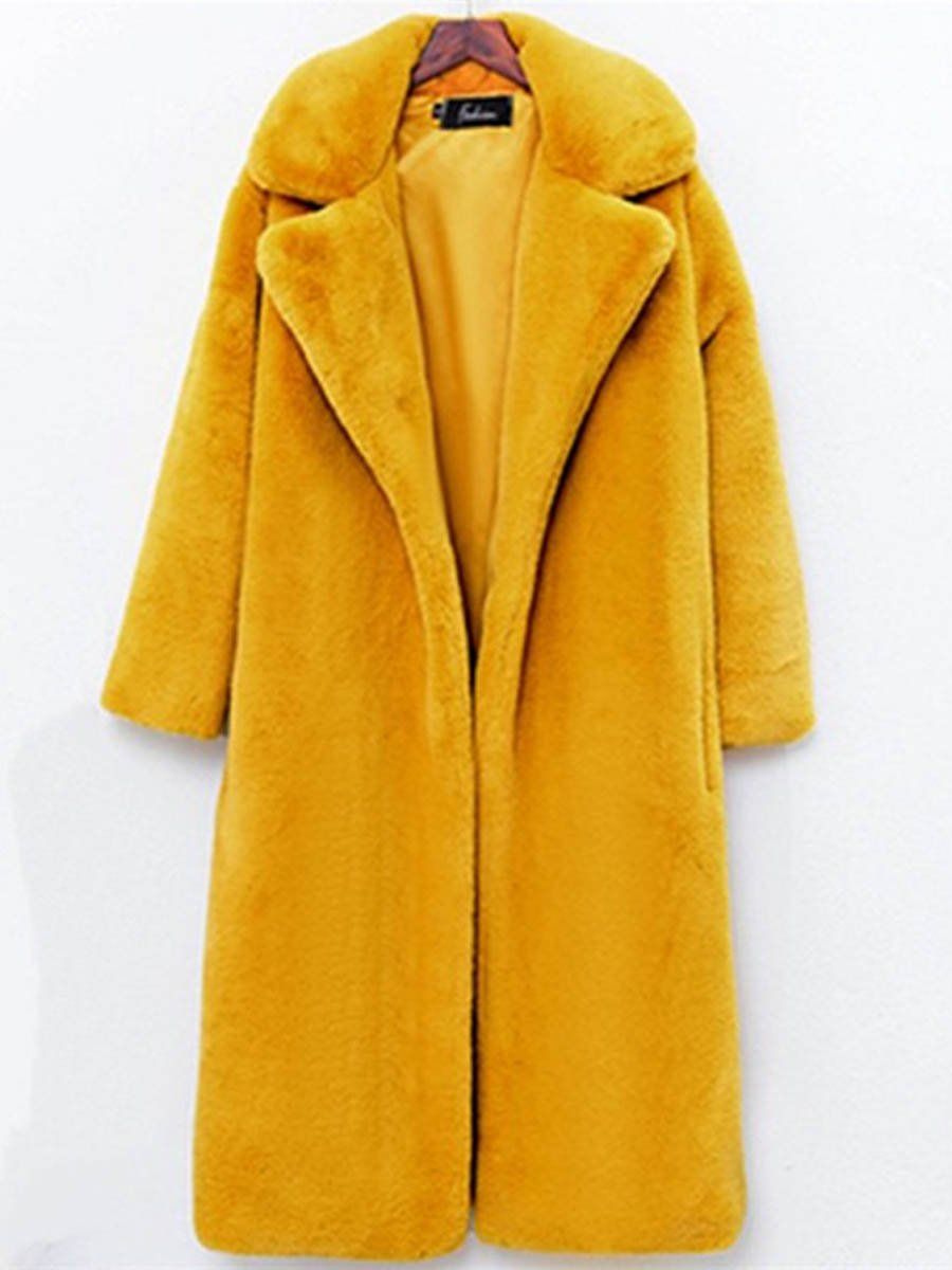 Winter new women's long section loose thick plush coat women
