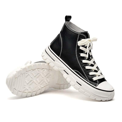 Autumn breathable thick-soled versatile tide high-top shoes