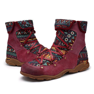 2019 new European and American leather outdoor women's boots casual fashion cowboy boots motorcycle boots