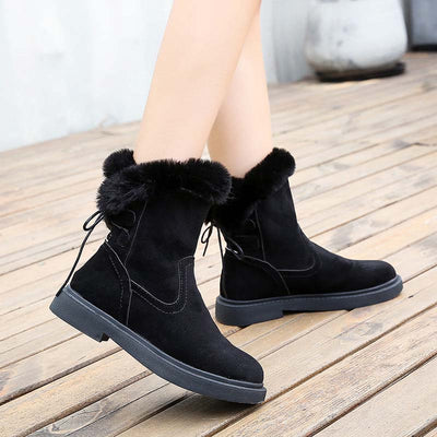 2019 new winter tide outdoor plus velvet warm cotton boots slip-on snow boots