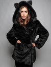 2019 new fur hooded jacket fox fur faux fur coat