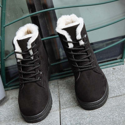 Women winter warm big size cotton boots snow boot