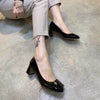 Patent leather wild professional work shoes