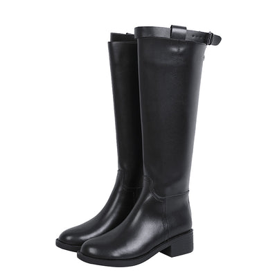 2019 new autumn and winter plus velvet long tube female riding boots