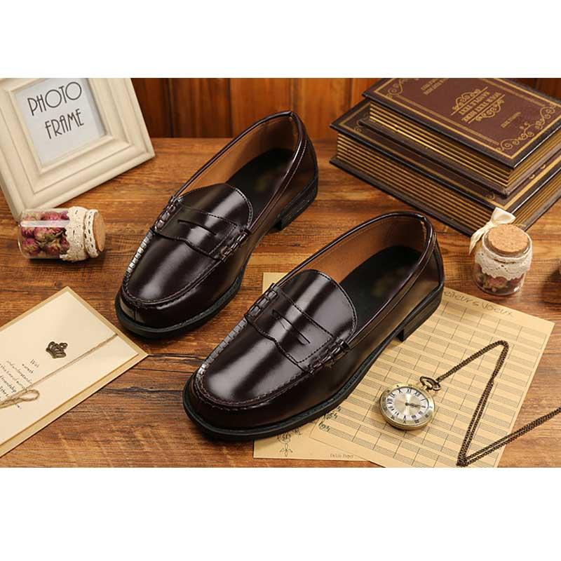 Men's DK uniform shoes orthodox loafers students' low-top leather shoes