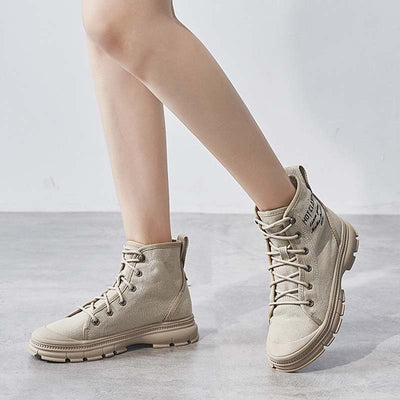 2019 autumn and winter new women's casual breathable high-top women's shoes desert boots