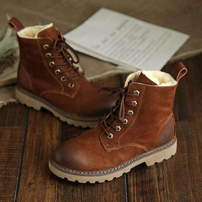 2019 new retro sheep fur one warm Martin boots 02