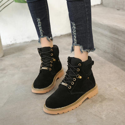 2019 British style autumn new wild motorcycle boots short boots canvas Martin boots