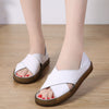 Hollow leather fish mouth word breathable fashion sandals