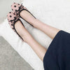 Flat bottom versatile shallow mouth retro shoes