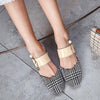 Fashion pointed toe cap no heel lazy half slippers