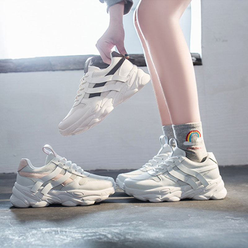 New wild spring women's shoes mesh gauze platform shallow mouth casual sneakers