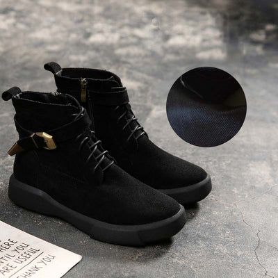 2019 new autumn and winter large size short boots retro flat Martin boots large women's boots