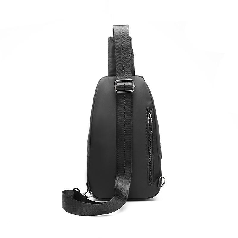 New Large Capacity Nylon Men's Bag Chest Bag Leisure Shoulder Waist Bag Chest Bag Outdoor Sports Chest Bag
