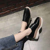 Wild platform thick sole canvas shoes