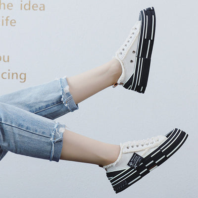 2020 spring new luminous soft bottom wear-resistant casual canvas shoes