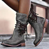 Vintage low heel rivet mid tube Knight Martin boots