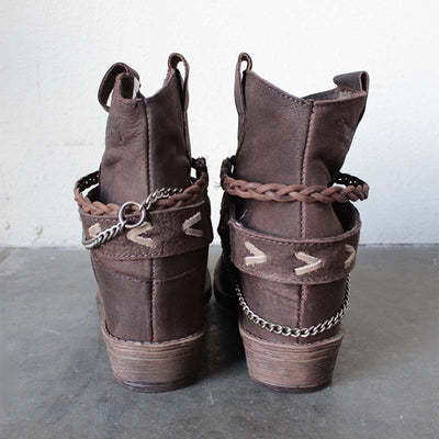 Fashion casual round head low tube waterproof platform short tube female boots