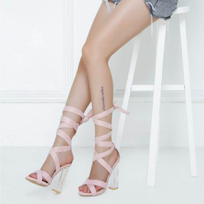 New personality lace-up sandals