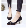 High heel stiletto shallow mouth pointed single shoes
