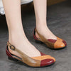 Vintage literary women's leather single-layer leather casual shoes
