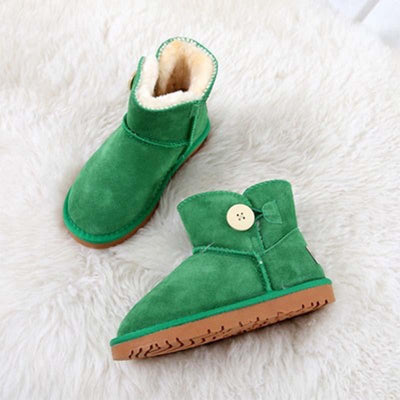 Winter low tube flat with leather scrub sand shoes