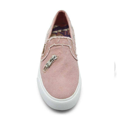 Solid Color Sequins Zipper Hole Patchwork Round Toe Loafers