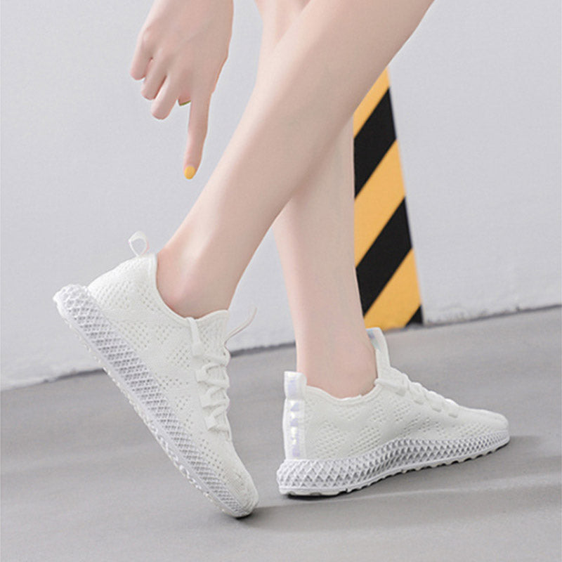 Autumn new breathable wild flat-heeled casual shoes breathable low-top sneakers
